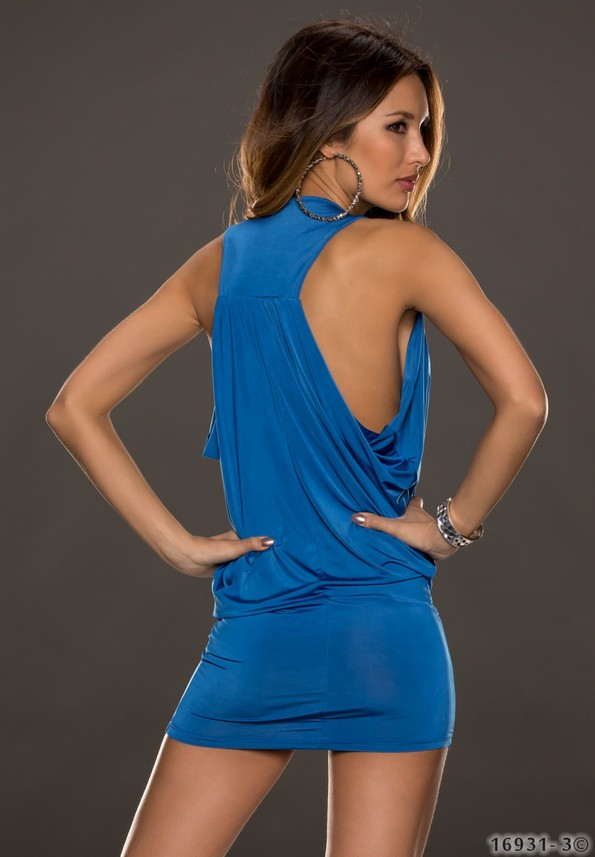 sexy minikleid longtop s m l 36 38 40 pink gr n blau. Black Bedroom Furniture Sets. Home Design Ideas
